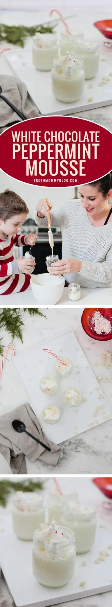 The Best White Chocolate Peppermint Mousse