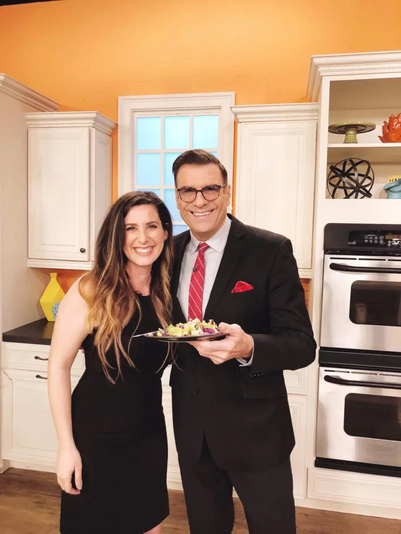 Healthy Apple and Pomegranate Winter Chopped Salad with Pazazz Apples from Tabitha Blue, popular Florida lifestyle blogger on Daytime TV, WFLA channel 8 in Tampa Bay - Healthy Apple and Pomegranate Winter Salad Recipe by popular Florida lifestyle blogger Fresh Mommy Blog