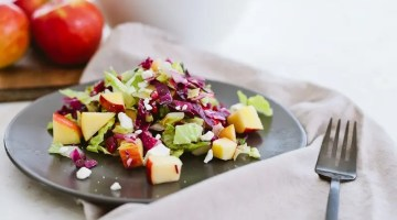Healthy Apple and Pomegranate Winter Chopped Salad - Healthy Apple and Pomegranate Winter Salad Recipe by popular Florida lifestyle blogger Fresh Mommy Blog