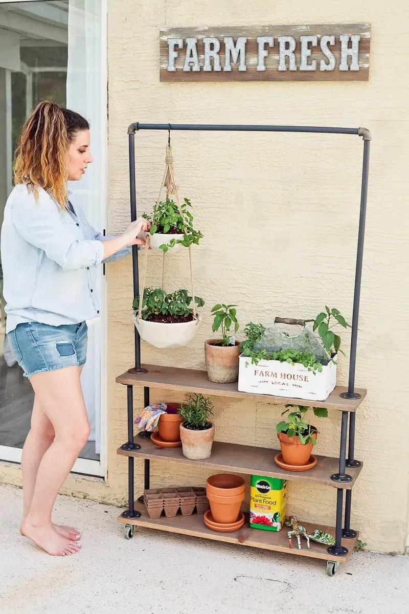 Diy Rolling Garden Amp Plant Shelf Home Fresh Mommy Blog
