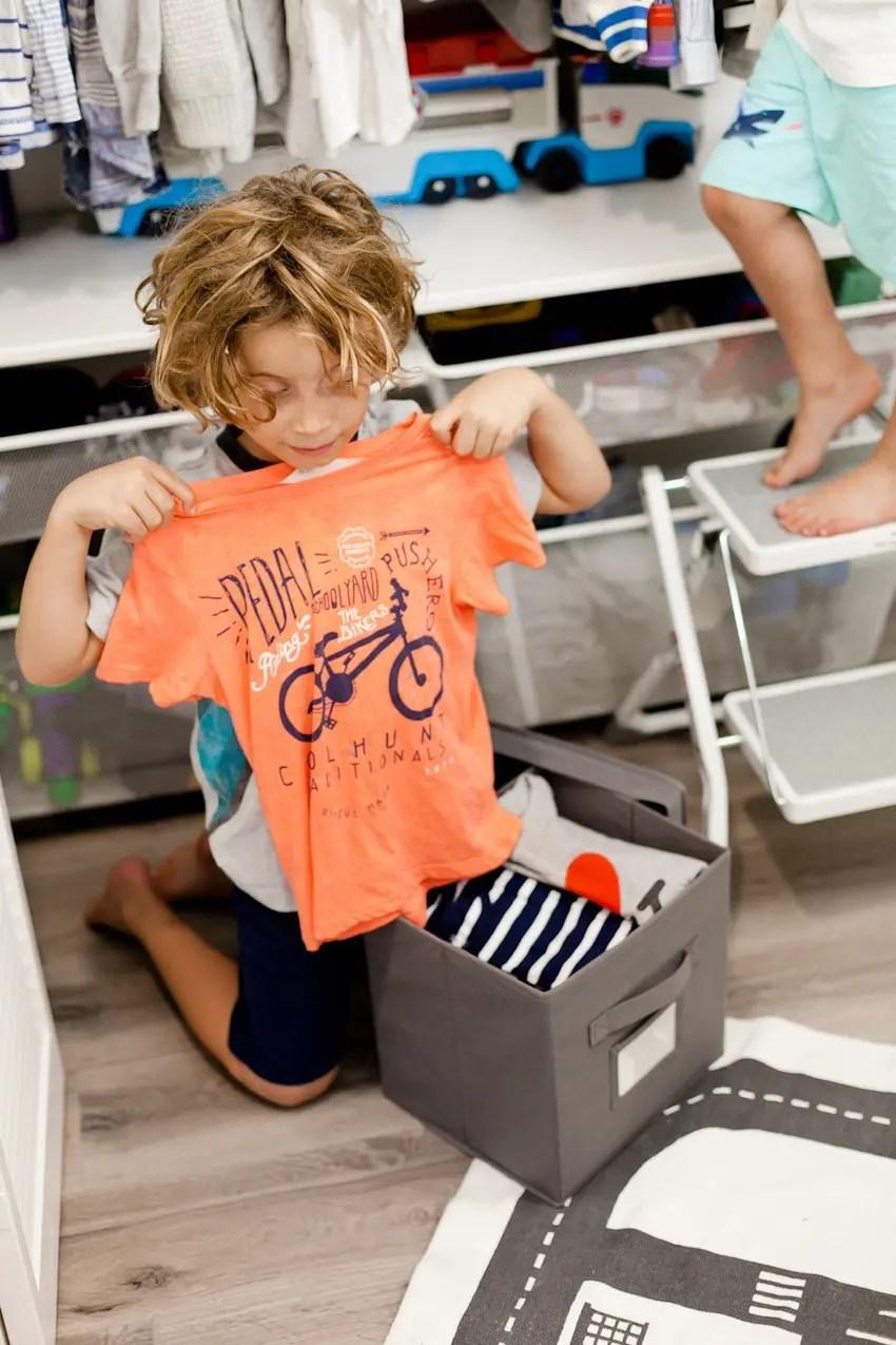Kids Closet Organization Tips by popular Florida mom blogger Tabitha Blue of Fresh Mommy Blog