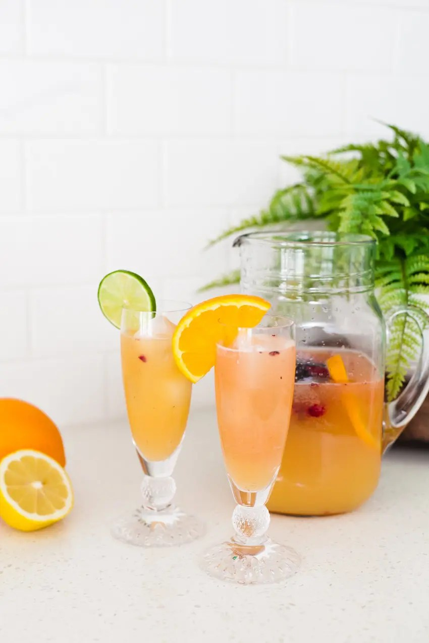 Spring Sipper mocktail, or make it a cocktail, for any occasion! - A Refreshing Citrus Spring Sipper Mocktail Recipe by popular Florida lifestyle blogger Fresh Mommy Blog