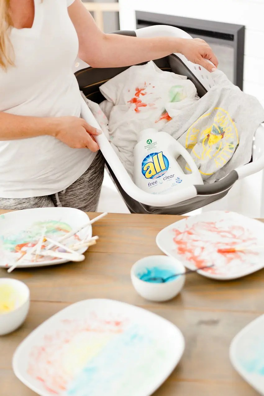 Make Learning Fun with this Edible Finger Paint! Just two simple ingredients from your kitchen will allow for so much creative learning and free play. Plus how we clean up and not stress the mess. Live More, Worry Less. - Make Learning Fun with this Edible Finger Paint by popular Florida lifestyle blogger Fresh Mommy Blog