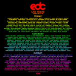 EDC LV - Lineup by day