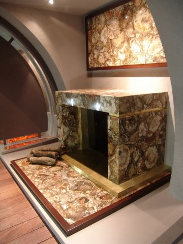 fireplace Luxury Gemstones in Home Interiors