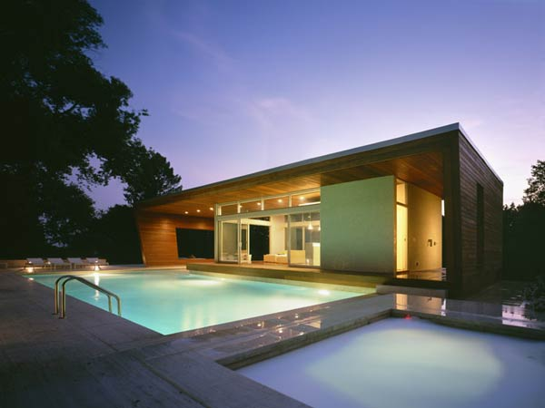 outstanding swimming pool house design 9 Beautiful Pool House in Connecticut by Hariri & Hariri Architecture