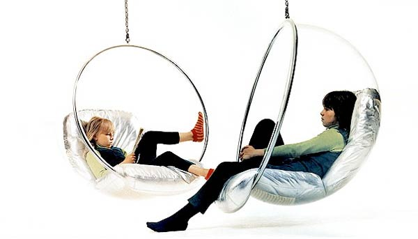 Eero aarnio from ball to bubble large2 Transparent Ball Chair or Bubble Chair by Eero Aarnio