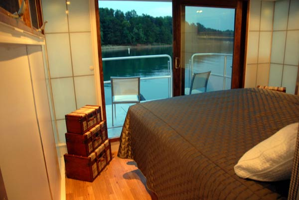 metroship bedroom ambient lighting Contemporary Luxury Houseboat with a Loft Style Interior
