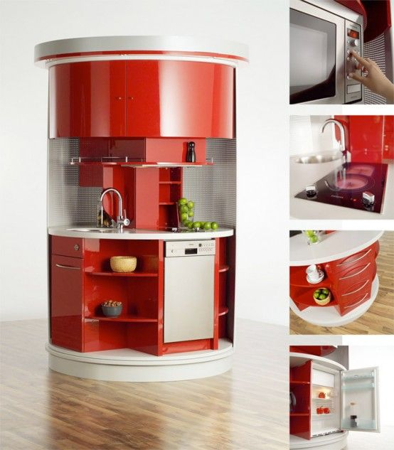 Circled Kitchen by Compact Concepts