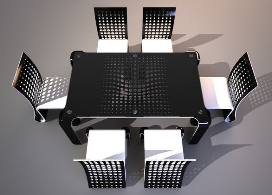 Ergonomic Push Table Dining Set by Svilen Gamolov 1