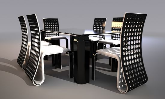 Ergonomic Push Table Dining Set by Svilen Gamolov 3