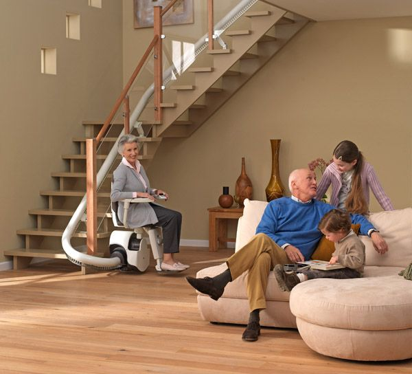 Lift01 Slide Up the Stairs in Style with the Curved Stair Lift