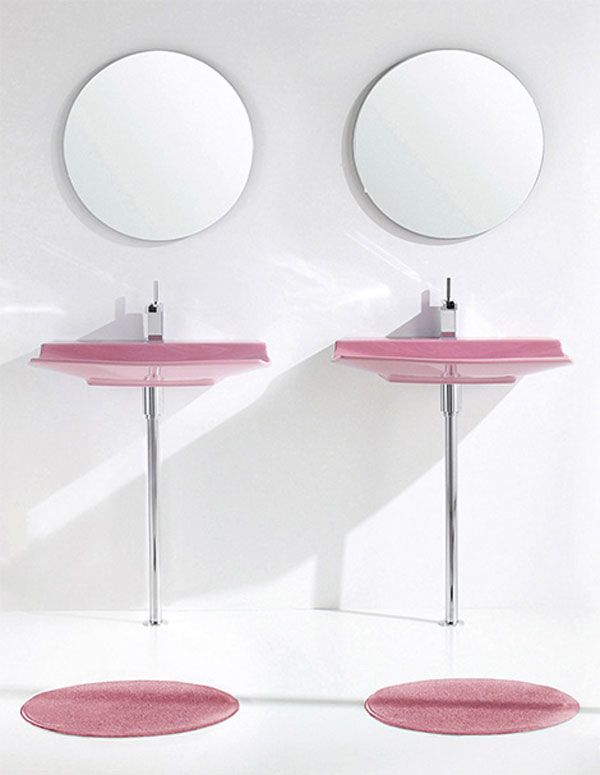 aquaplus pink bathroom fixtures lilac 2 Bathroom Simplicity and Style : Lilac Bathroom Sets by Aquaplus
