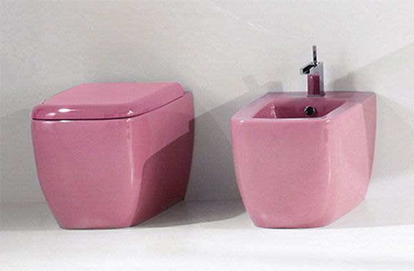 aquaplus pink bathroom fixtures lilac 3 Bathroom Simplicity and Style : Lilac Bathroom Sets by Aquaplus