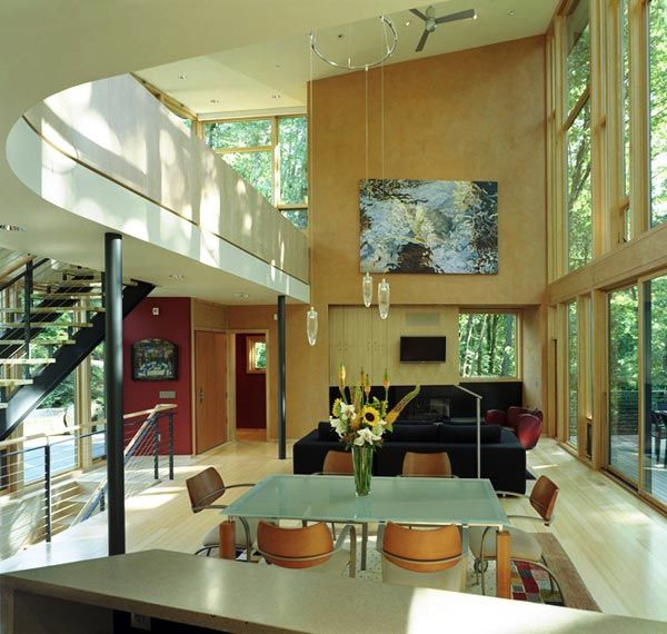 kitchel house 5 Beautiful House Surrounded by Forest and Lush Landscape