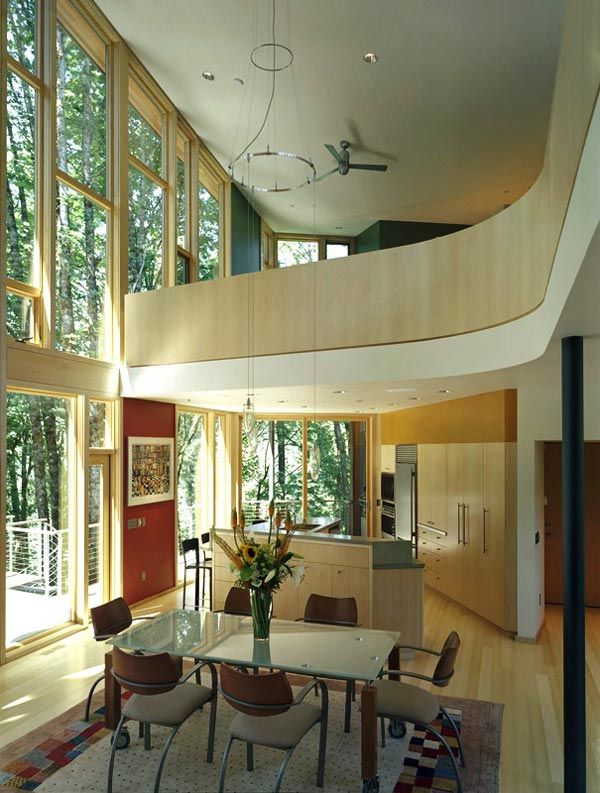 kitchel house 7 Beautiful House Surrounded by Forest and Lush Landscape