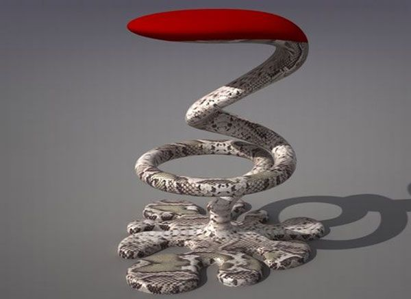 snake bar stool2 The Amazing Snake Bar Stool by Svilen Gamolov