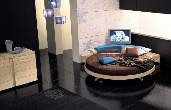 Leather Round Beds by Prealpi 5