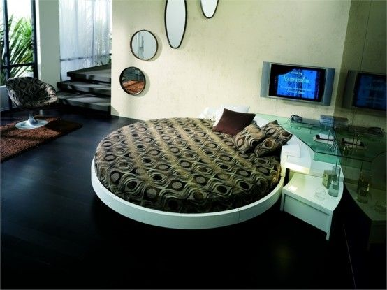 Leather Round Beds by Prealpi 6