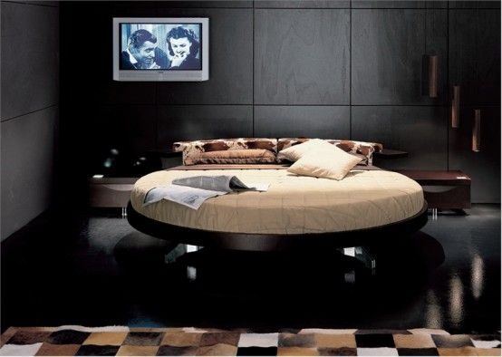 Leather Round Beds by Prealpi 7