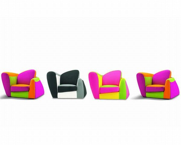 SYMBOL SERIE Symbol, an Armchair With a Colorful Design