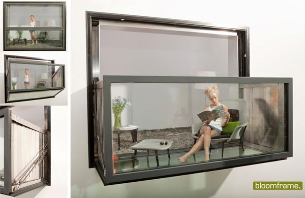 bloom frame Bloomframe : Innovative Window which can be Transformed into a Balcony