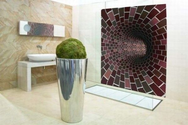 glass mosaic tiles with cool images for bathroom by glas 006 Mosaic Tiles : A Fresh Bathroom Look