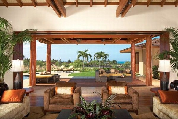 hualalai luxury home design great room 554x369 Luxury Home in Hualalai