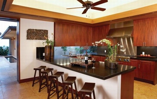 hualalai luxury home design kitchen 554x350 Luxury Home in Hualalai