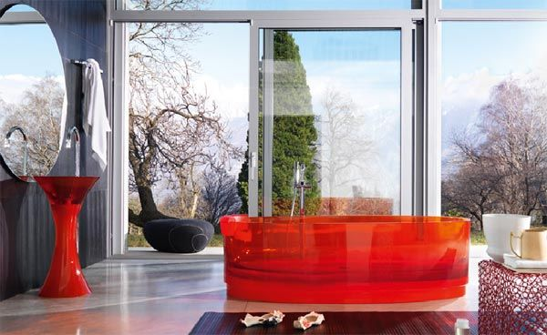 jolie tub Contemporary Transparent Glass Tubs from Regia
