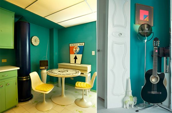 keni green1 Color Accents Galore for a Miami Beach Apartment