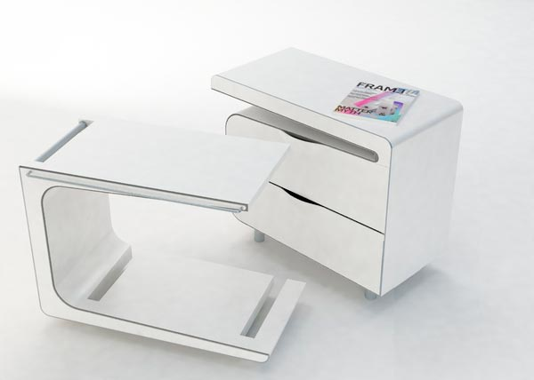 night bed table4 Interesting & Multifunctional Bedside Cabinet and Table by Maria Cichy