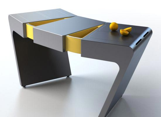 accordion table Flexible Kitchen Table : Accordion by Olga Kalugin