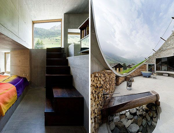 underground home designs swiss mountain house 11 Incredible Underground Residence in Switzerland