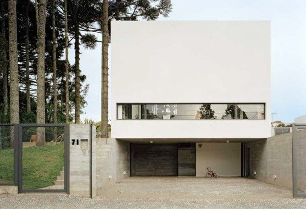 casa curitiba u030210 nk21 Beautiful White Villa in Brazil by Una Arquitetos
