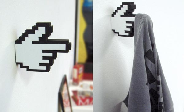 finger hanger 8 Bit Pixelated Hanger Inspired by Mouse Pointer