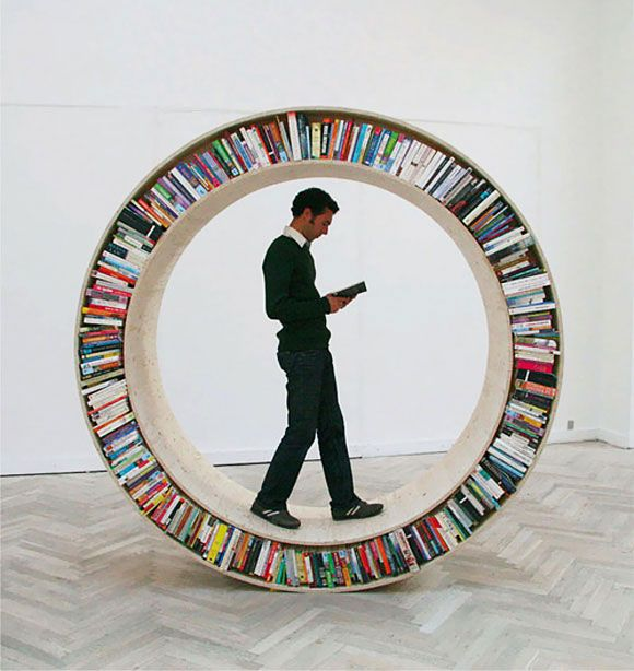 Circular Walking Bookshelf Circular Walking Bookshelf  by David Garcia