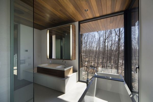 mountain chalet plan quebec canada 7 Modern Mountain Cottage in Quebec, by Blouin Tardif Architecture