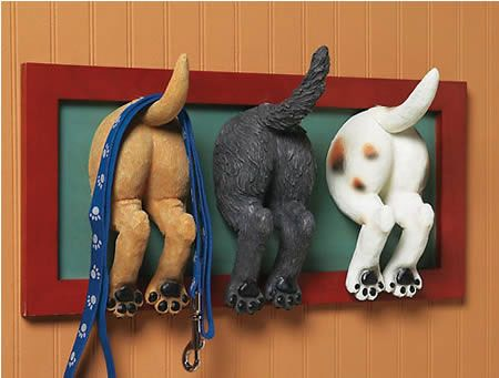 puppy but wall hook 25 of the Most Creative Wall Hook Designs