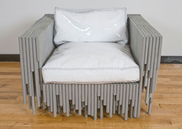 unusual material table chair3 Furniture made with odd and unusual materials by BRC Designs