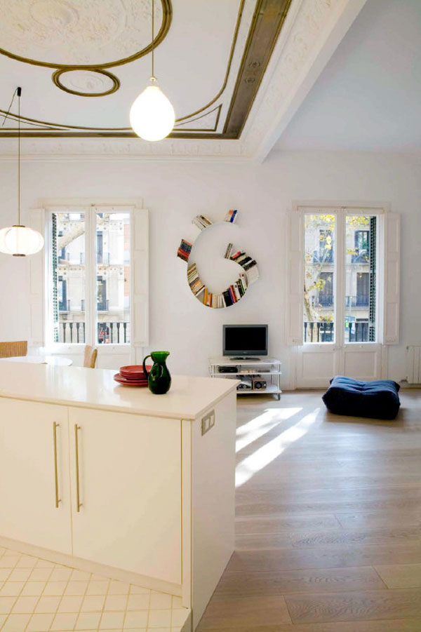 1277472713 miel santpere47 foto 10 Flat Renovation in Barcelona, Based on Strong Visual Effects