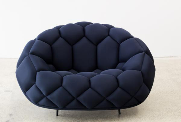 blue sofa 2 Fashionable Blue Sofa and Armchair : Quilt