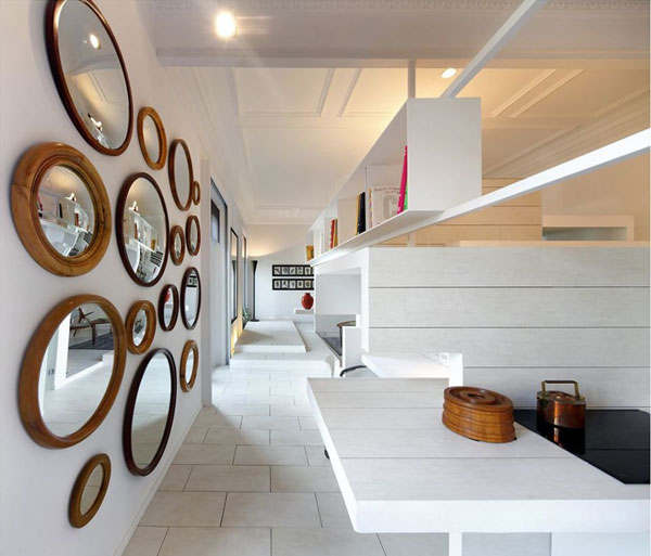 ch 300610 21 940x804 Ceramic House in Madrid with Stunning Multi Level Interiors