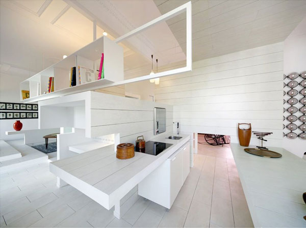 ch 300610 23 940x701 Ceramic House in Madrid with Stunning Multi Level Interiors