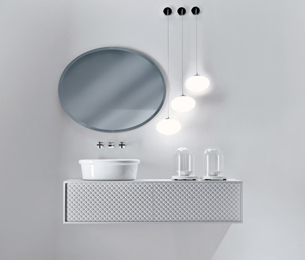 COCO Falper 10 Gorgeous Textured Bathroom Furniture in Black and White from Falper