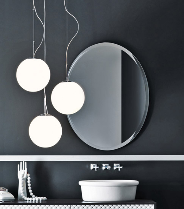 COCO Falper 6 Gorgeous Textured Bathroom Furniture in Black and White from Falper