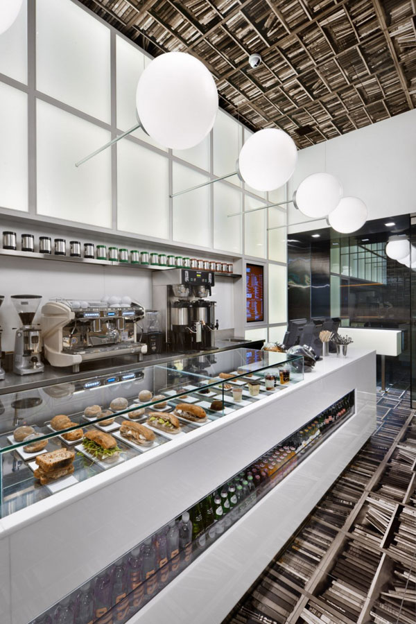 Cafe Design Inspired by a Library in New York