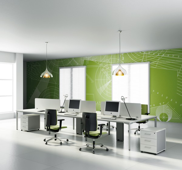 modul 08 8 Elegant and Practical Group Work Desks for Up to date Offices