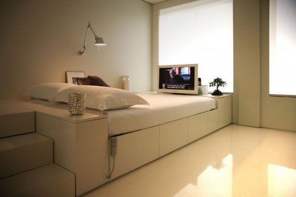 Closet House 01 750x500 Intelligent and Hi Tech Small Apartment With Mind blowing Features [Video]
