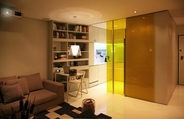Closet House 02 750x483 Intelligent and Hi Tech Small Apartment With Mind blowing Features [Video]